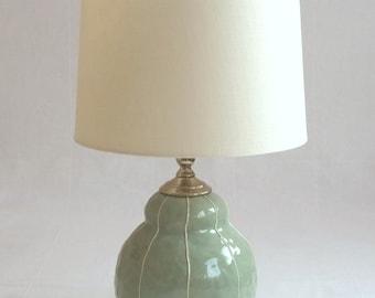 Table lamp. Bedside lamp. Handmade ceramic lamp. Unique modern interior lighting. Luxury bedroom, living room decor. Kri Kri Studio Seattle