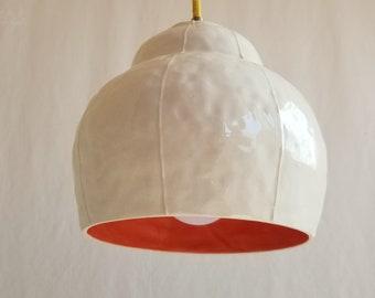 Pendant light. Chandelier, hanging bar lamp. handmade organic shape