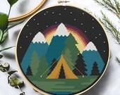 Starlight Camping Cross Stitch