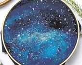Blue Space Cross Stitch
