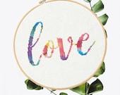 Rainbow Love Cross Stitch