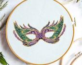 Mardi Gras Mask Cross Stitch