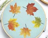 Autumn Leaves Cross Stitch