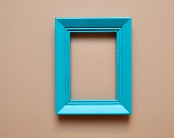 Turquoise Picture Wall Frame 5 X 7 Reclaimed Frame Wall Gallery of Frames Repainted Frames