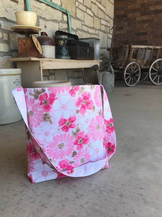 Fabric Market Tote Reversible Fabric Bag Summer Purse Vintage   Etsy 0ec7e7ef06