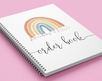 Personalised A5 or A4 Order Book   Small Business Stationary   Logo Order Book   Small Business   Double Sided   1 or 2 Orders Per Page