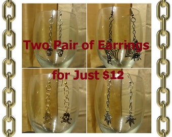 Two Pair of Earrings for 12 Dollars - Save 4 Dollars