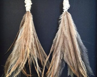 Emu feather earings