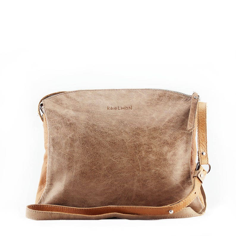 bd5a653769 Beige bag beige taupe leather crossbody bag purse BLAKE