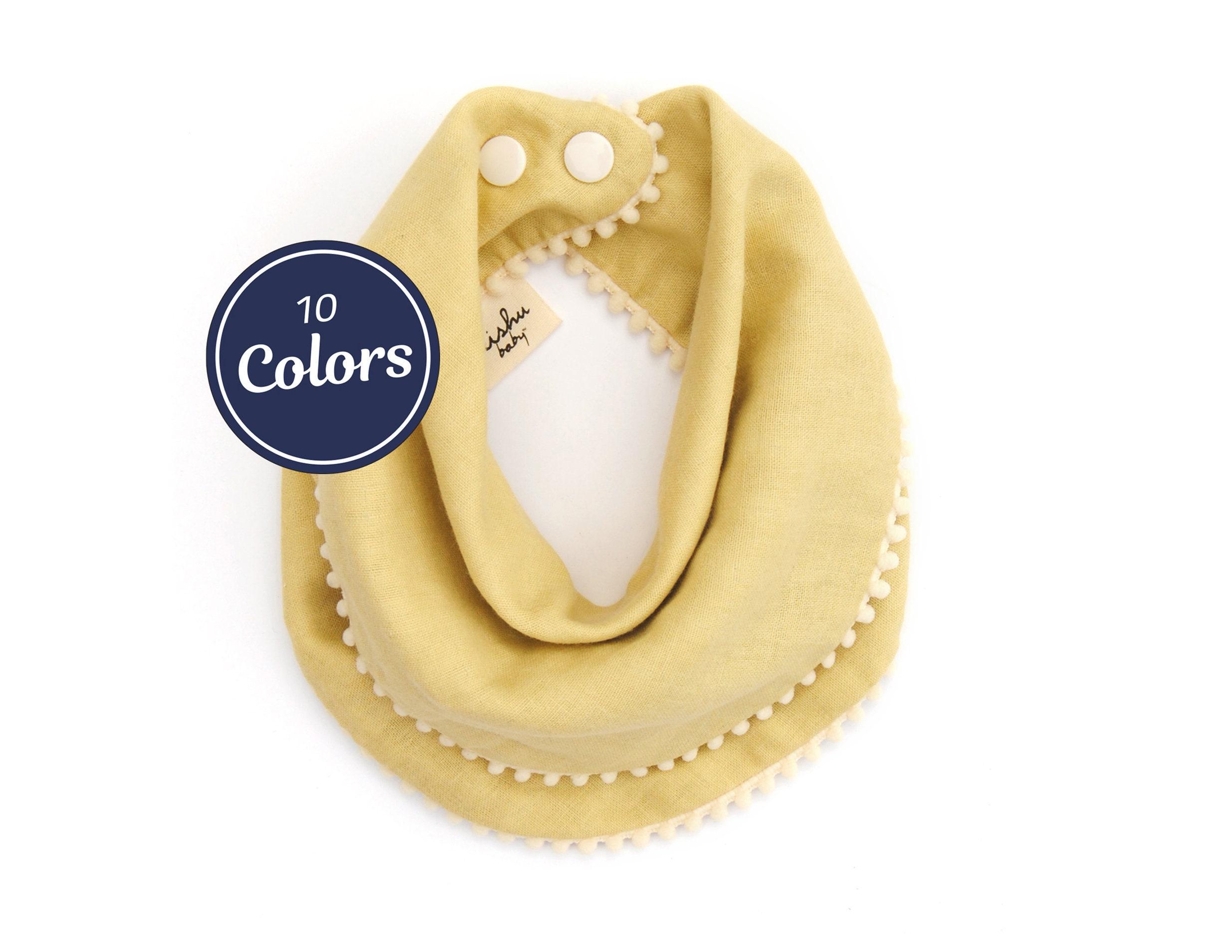 Solid color reversible drool bib