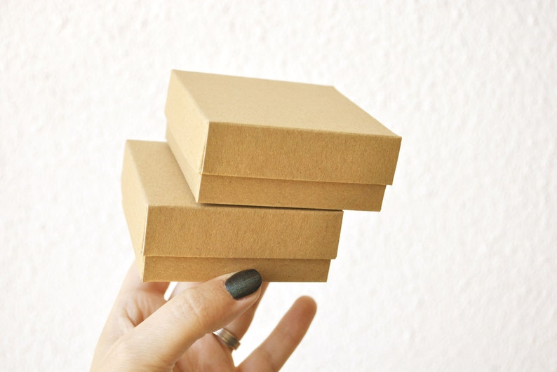 50 Boxes with lid I Small jewelry boxes with lid I Card stock image 0
