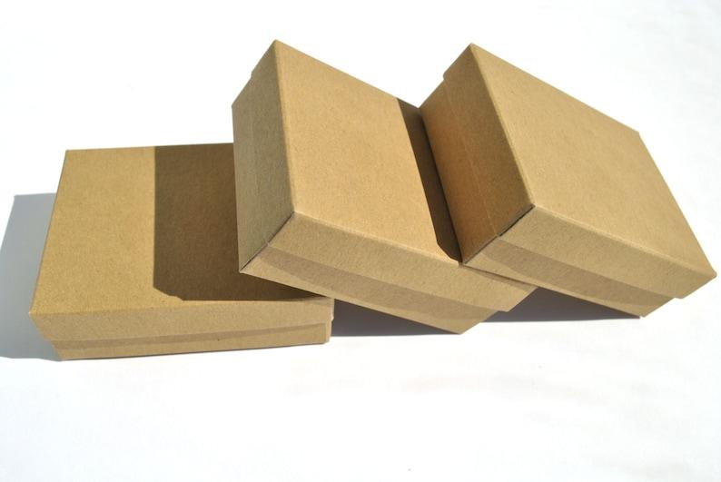 60 Jewelry kraft brown white grey presentation boxes I Box image 0