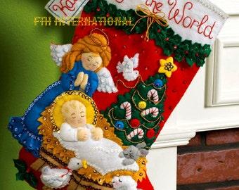 Bucilla The Procession 18 Felt Christmas Stocking Kit Etsy