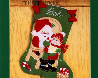Bucilla No Peeking 18 Felt Christmas Stocking Kit Etsy