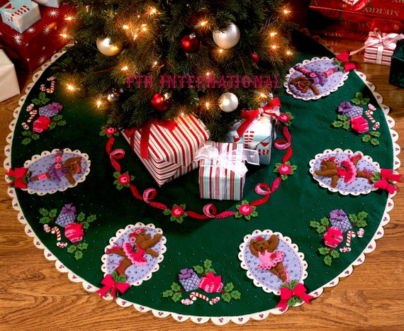 Bucilla Ballet Bears 42 Felt Christmas Tree Skirt Kit   Etsy