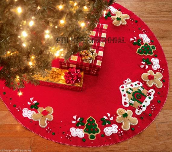 image 0 - Bucilla Gingerbread House 43 Felt Christmas Tree Skirt Etsy