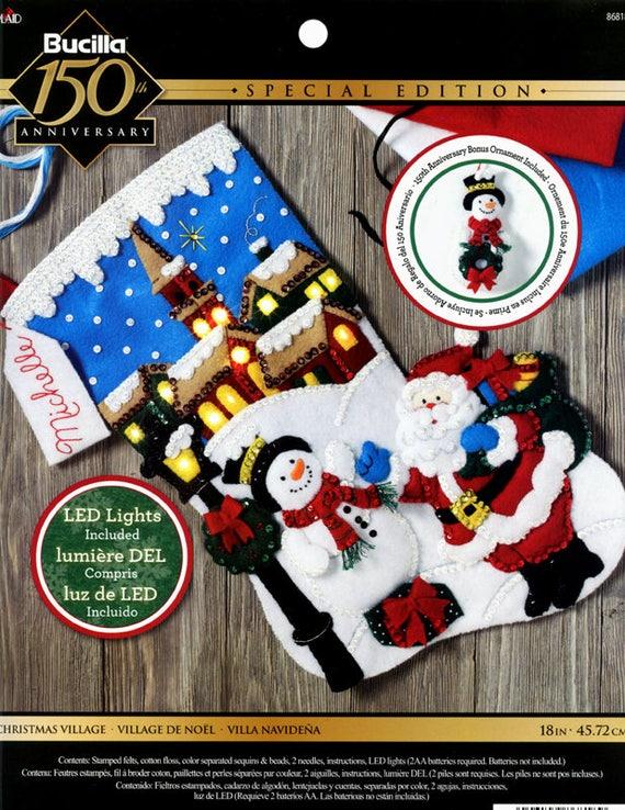 Bucilla Navidad pueblo 18 fieltro Media Kit 86818