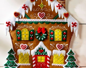 Bucilla Nordic Gingerbread House ~ Felt Advent Calendar Kit 86585 European 2015 DIY