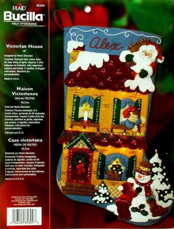 Bucilla Victorian House 18 Felt Christmas Stocking Kit Etsy