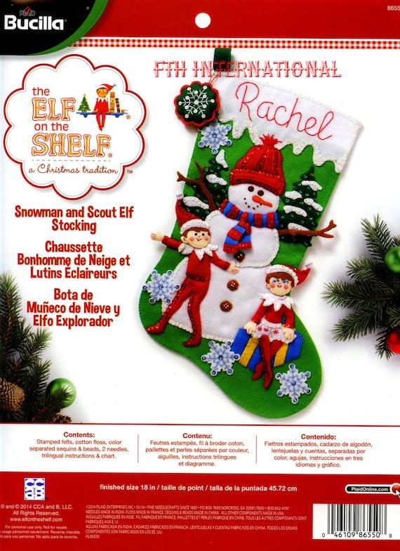 Bucilla Snowman Scout Elf 18 Felt Christmas Stocking Etsy