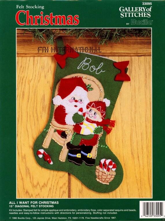 """Santa Ciervos Bucilla Navidad Fiesta ~ 18 /""""De Fieltro De Navidad Kit De Siembra # 85271"""