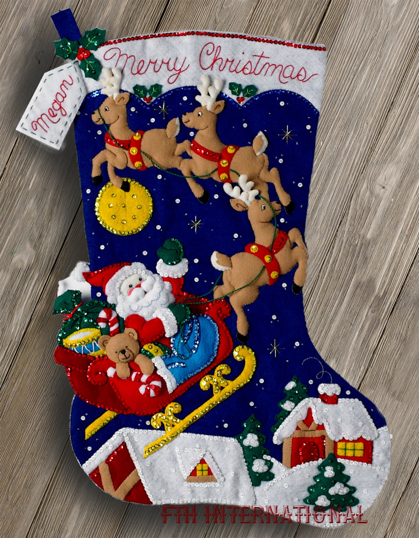 Bucilla Christmas Night 28 Jumbo Felt Stocking Kit | Etsy