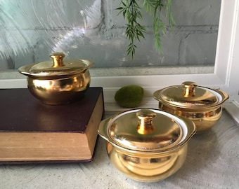 Superbe Vintage Hall Kitchenware Soup Bowls With Lids Free Shipping
