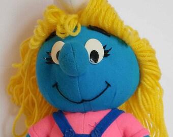 Hug A Smurf Smurfette Plush Toy Doll Stuffed Toy Island 1996 -12 Inches