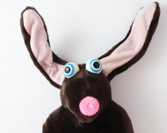 Alpha Critters X For Xif Stuffed Toy Plushie Chocolate Brown 1980s Creative Innovators - 11 Inches