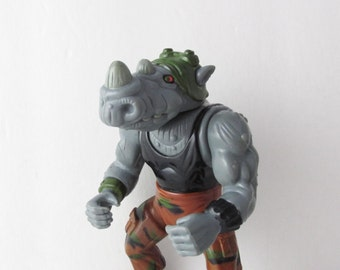 TMNT Rocksteady Action Figure Toy Playmates Toys - Late 1980s