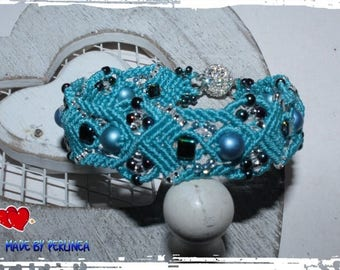 Micro Macrame Tutorial DIY Bracelet Blue Bayou Beaded Macrame