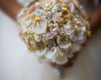 Brooch Bouquet designed with your brooches, jewelry