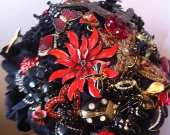 Halloween or Goth Brooch Bouquet