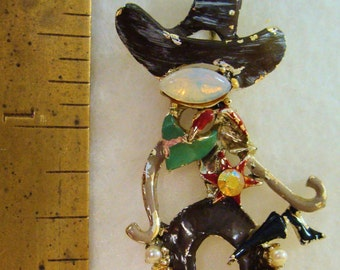 Vintage wild west Sheriff brooch