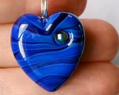 Waves heart! Beautiful glass necklace made Jenefer Ham
