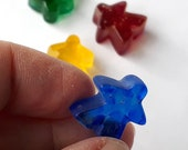 SINGLE Glass Meeple! Cast glass Player Marker by Jenefer Ham Pawns Board Game Glass Sculpture