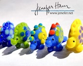 DINOS! Choose your Dinosaur Jurassic Player Markers by Jenefer Ham Pawns Board Game Glass Sculpture