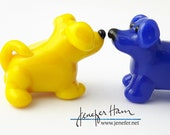 HOOO DOGGY! Puppy dog Glass Sculpture Player Marker Figurine Miniature by Jenefer Ham Pawn Board Game
