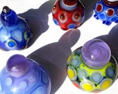 choose your DOTTY BOTTLE! beautiful lampworked glass sculpture player marker made by Jenefer Ham