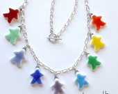 tinted MEEPLE necklace -- choose your colors and quantity! super cute meeple glass made by Jenefer Ham