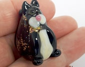 MEOW! Sparkles the Kitty Marker Hand Made Glass Cat Figurine Sculpture Game Player Pawn