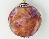 Silverglass! Beautiful lampworked glass necklace made Jenefer Ham
