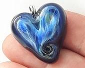 Silverglass! Beautiful heart glass necklace made Jenefer Ham