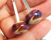 Silver Glass dangles - Beautiful glass earrings made Jenefer Ham