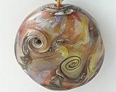Silverglass! Beautiful lampwork glass necklace made Jenefer Ham