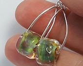 Silverglass roundels Beautiful glass earrings made Jenefer Ham