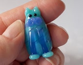 MEOW! Leandra the Kitty Marker Hand Made Glass Cat Figurine Sculpture Game Player Pawn