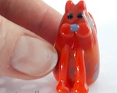 MEOW! Kinnie the Kitty Marker Hand Made Glass Cat Figurine Sculpture Game Player Pawn