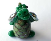 Evergreen the DRAGON! Glass Sculpture Player Marker Figurine Miniature by Jenefer Ham Pawn Board Game