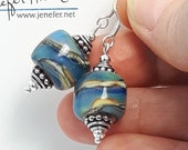 Silverglass beach - Beautiful glass earrings made Jenefer Ham